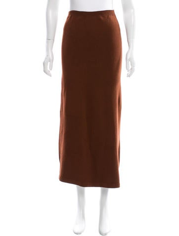 Prada Cashmere Midi Skirt None
