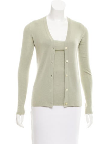 Prada V-Neck Cardigan Set None