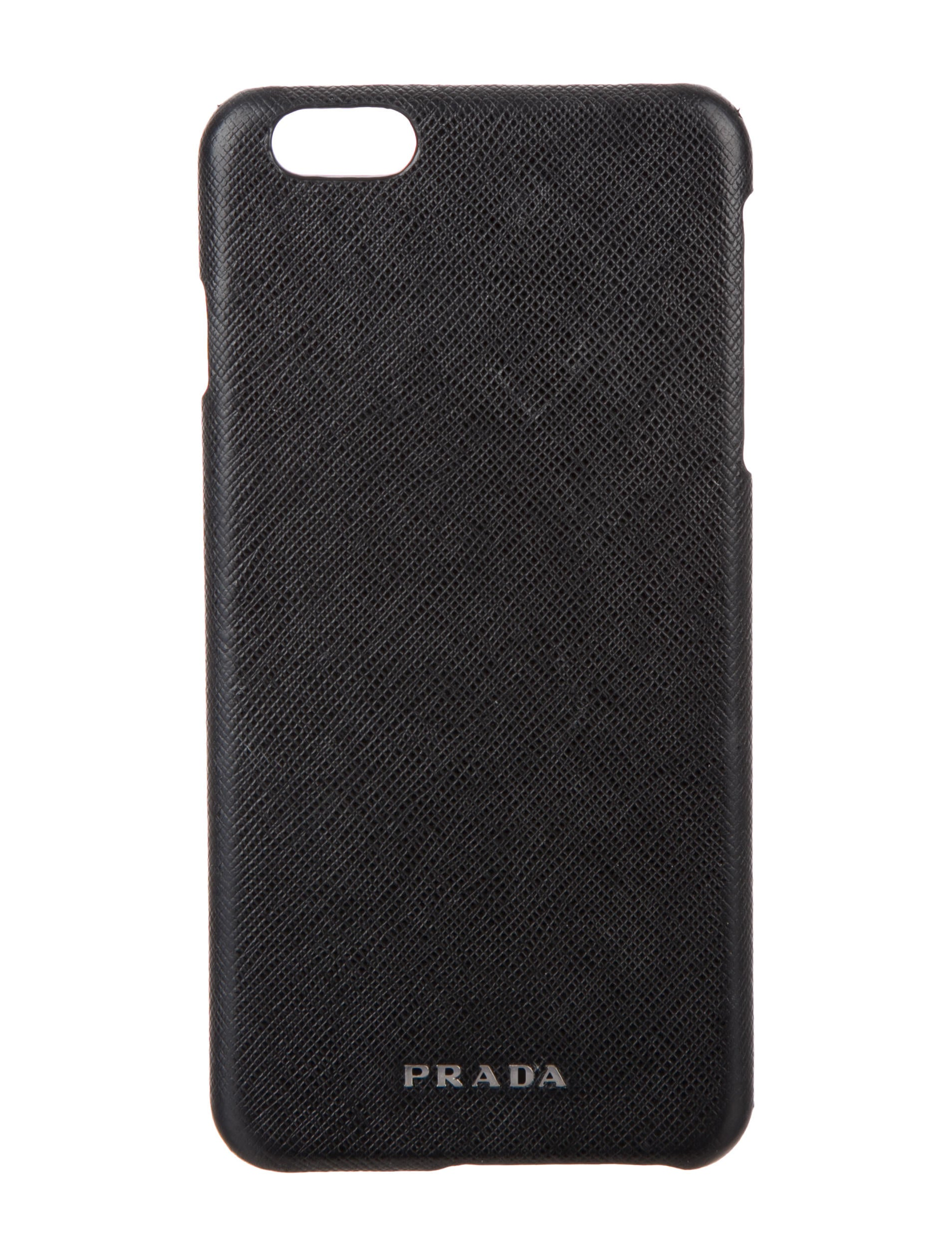 Prada iPhone Cases On Sale, Iphone 7,8 Holder, Black, Saffiano, 2017, one size