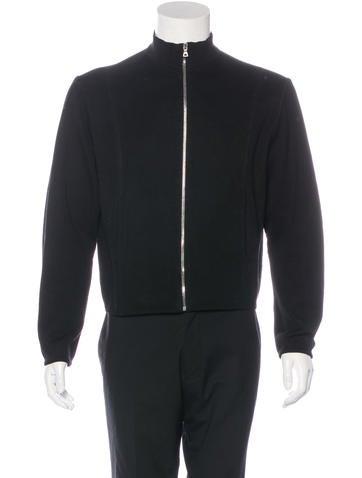 Prada Long Sleeve Zip-Up Sweater None