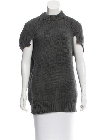 Prada Wool Short Sleeve Sweater None