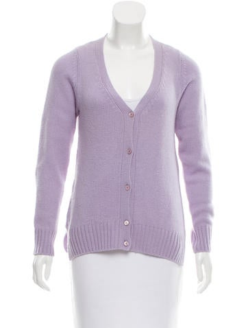 Prada Cashmere V-Neck Cardigan None