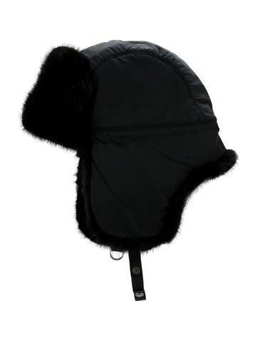 Prada Mink-Trimmed Trapper Hat