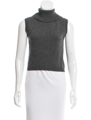 Prada Sleeveless Cashmere Sweater None