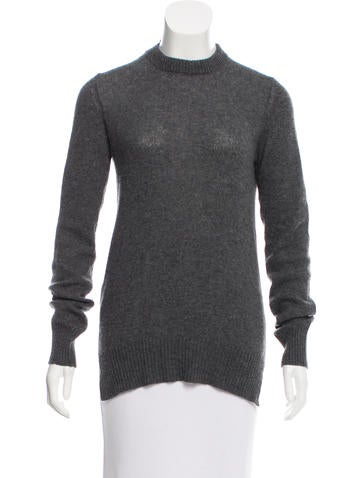 Prada Open Back Crew Neck Sweater None