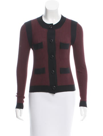 Prada Ribbed Button-Up Cardigan None