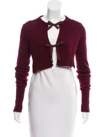 Prada Cropped Knit Cardigan None