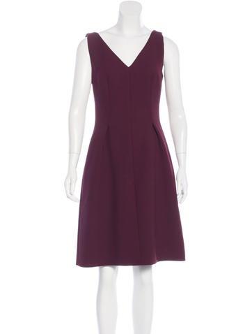 Prada Sleeveless Wool Dress None
