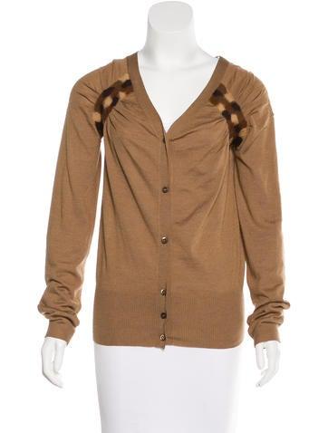 Prada Knit Long Sleeve Cardigan None
