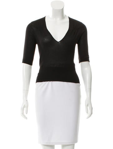 Prada Knit Cashmere Top None