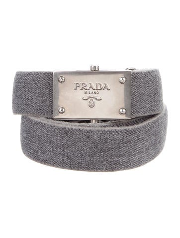 Prada Woven Logo-Embellished Belt None