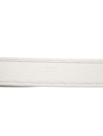 Leather-Trimmed Raffia Belt