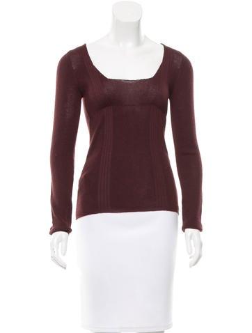 Prada Cashmere & Silk-Blend Sweater None