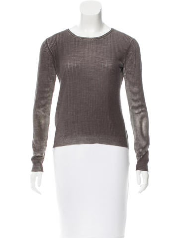Prada Wool Rib Knit Top None
