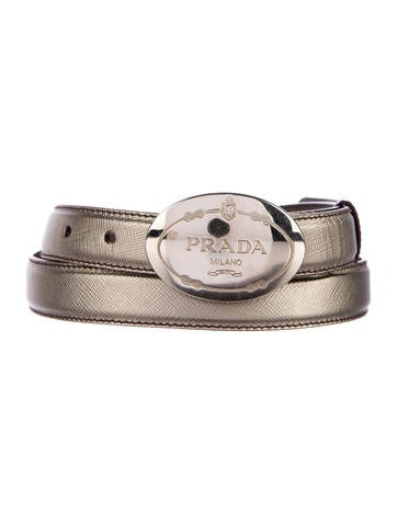 Metallic Safianno Leather Belt