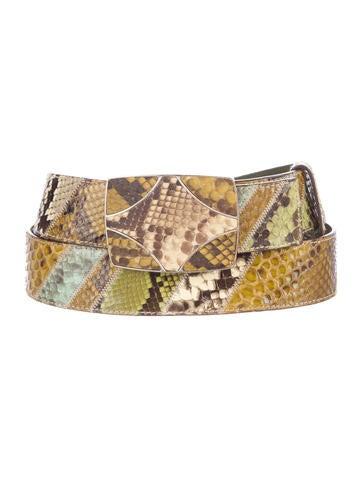 Snakeskin Patchwork Belt