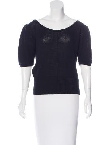 Prada Cashmere Short Sleeve Sweater None