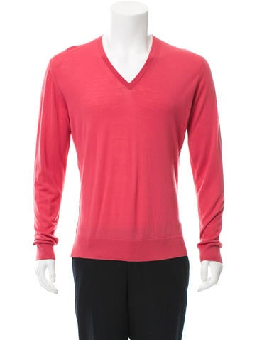 Prada V-Neck Pullover Sweater None