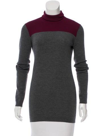 Prada Two-Tone Turtleneck Sweater None