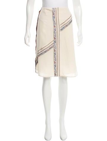 Prada Silk Asymmetrical Skirt