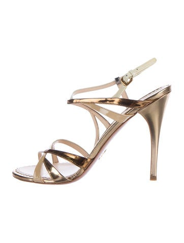 Prada Patent Leather Multistrap Sandals None