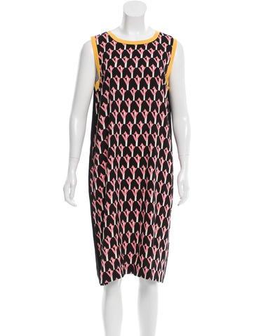 Prada Printed Shift Dress None