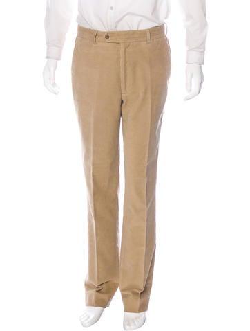 Prada Corduroy Straight-Leg Pants None