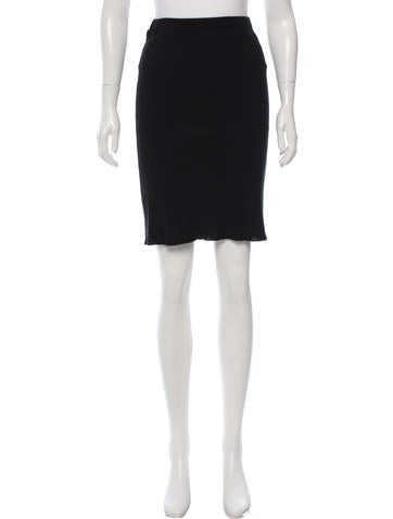 Prada Knit A-Line Skirt None