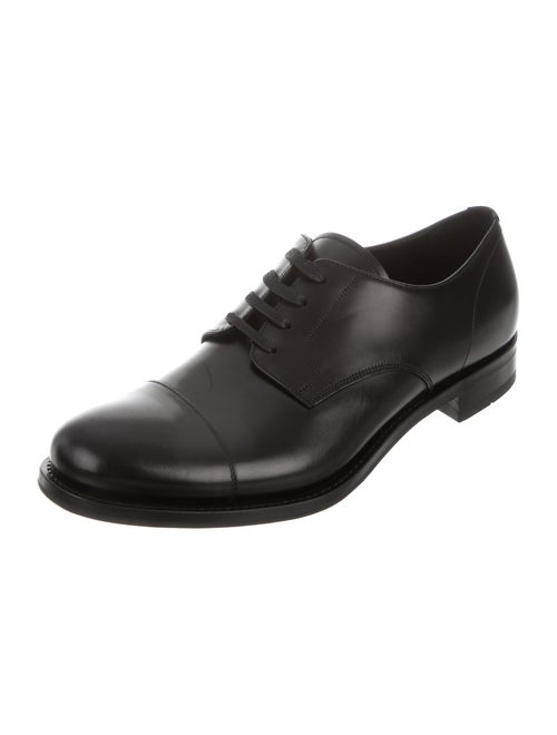 6cde153a3c8 Prada Cap-Toe Spazzolato Leather Derby Shoes w  Tags - Shoes ...