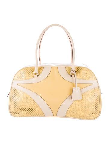 Prada Perforated Bauletto Bag