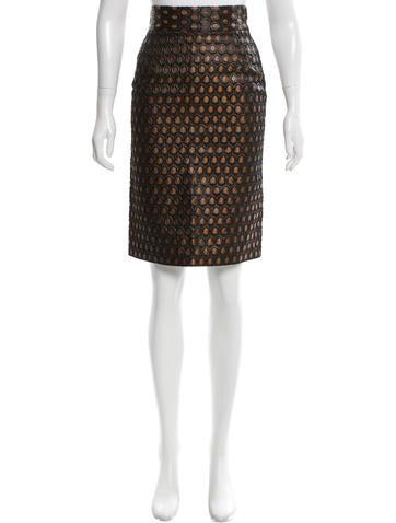 Prada Brocade Pencil Skirt