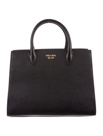 Prada 2017 Saffiano & City Calf Bibliothèque Bag