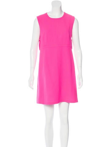 Prada Virgin Wool Sleeveless Dress