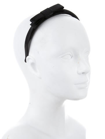 Bow-Accented Satin Headabnd
