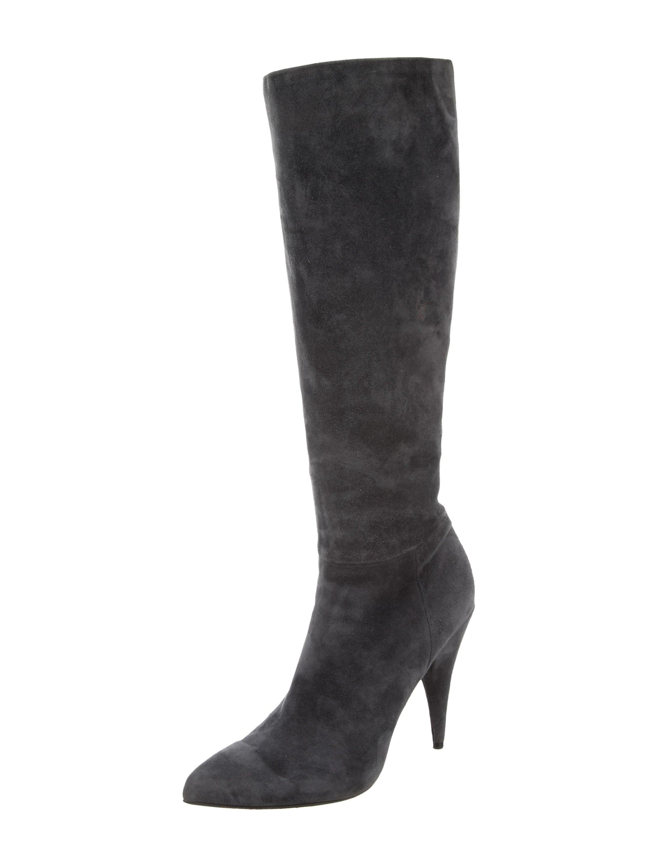 prada pointed toe knee high boots shoes pra128802