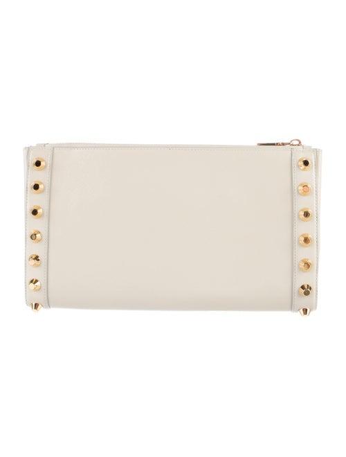 ac712b14d15a Prada Saffiano Vernice Studded Clutch - Handbags - PRA129337 | The ...