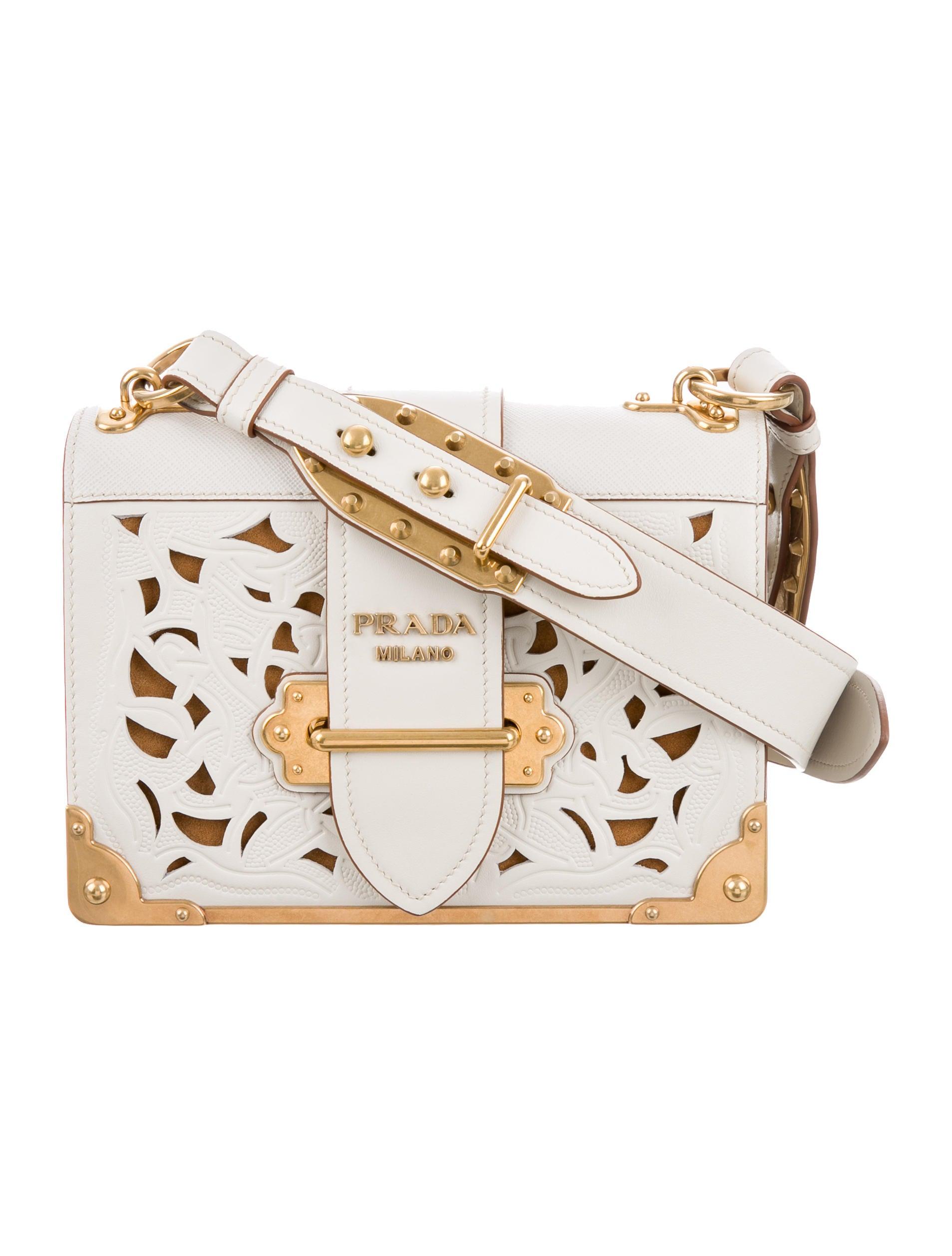 dd13d6837c48 Prada 2017 Laser-Cut Cahier Shoulder Bag - Handbags - PRA129396 ...