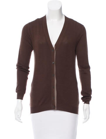 Prada Long Sleeve Knit Cardigan None