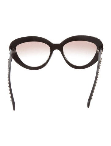 Spiked Cat-Eye Sunglasses