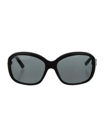 Prada Logo-Embellished Tinted Sunglasses None