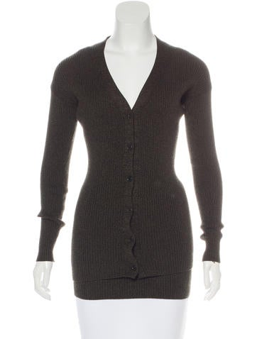Prada Wool V-Neck Cardigan Set None