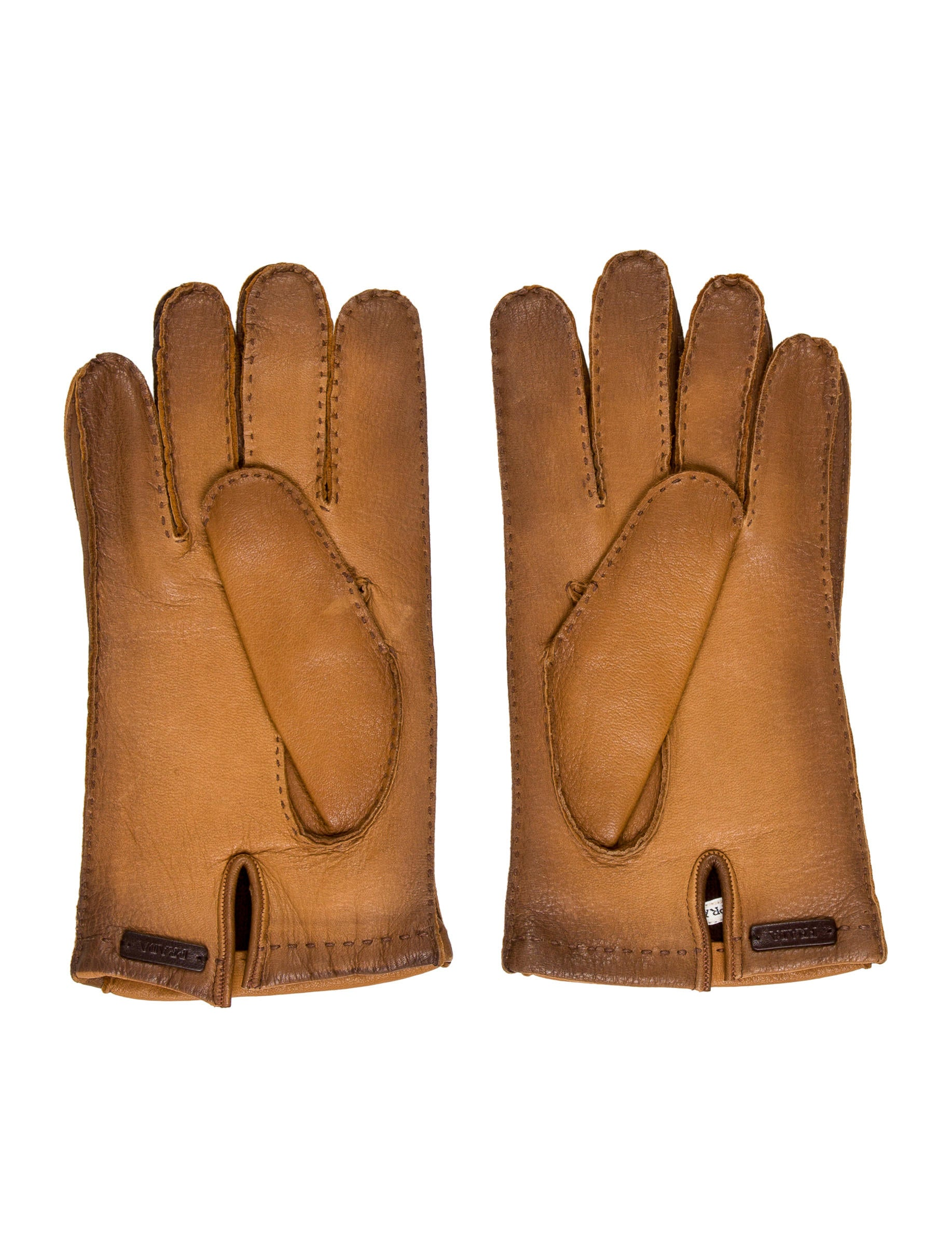 Prada mens leather gloves - Cashmere Lined Leather Gloves