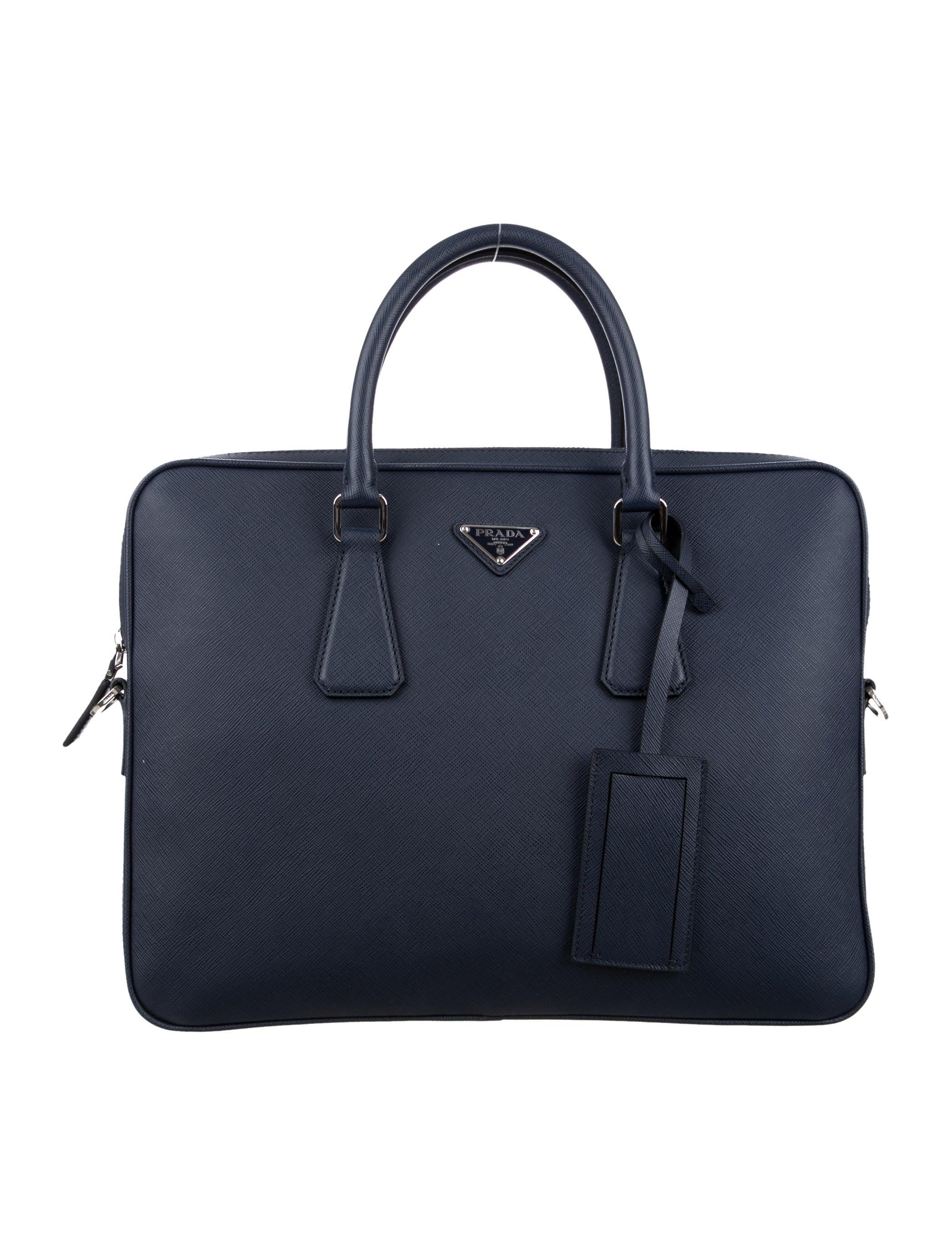 Prada Saffiano Leather Travel Briefcase W Tags Bags