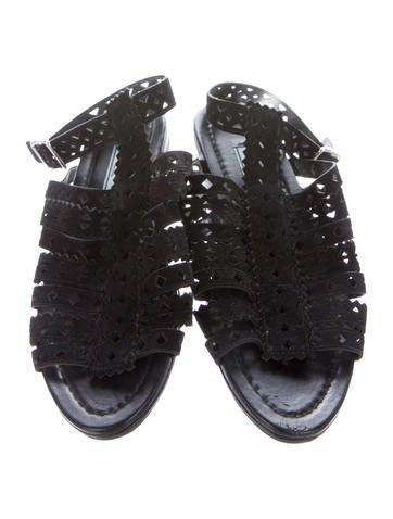 Suede Laser Cut Sandals