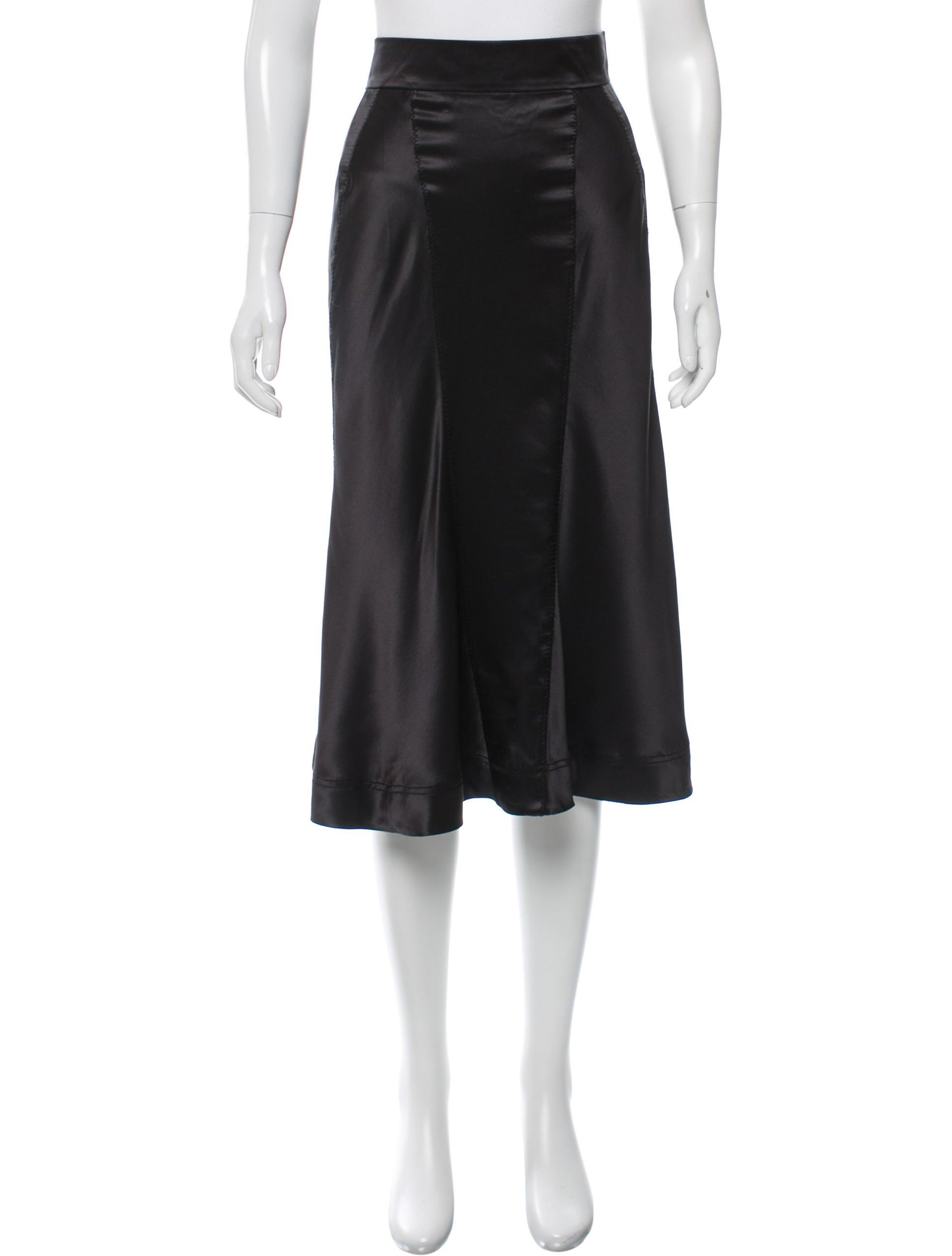 prada silk midi skirt w tags clothing pra132258 the