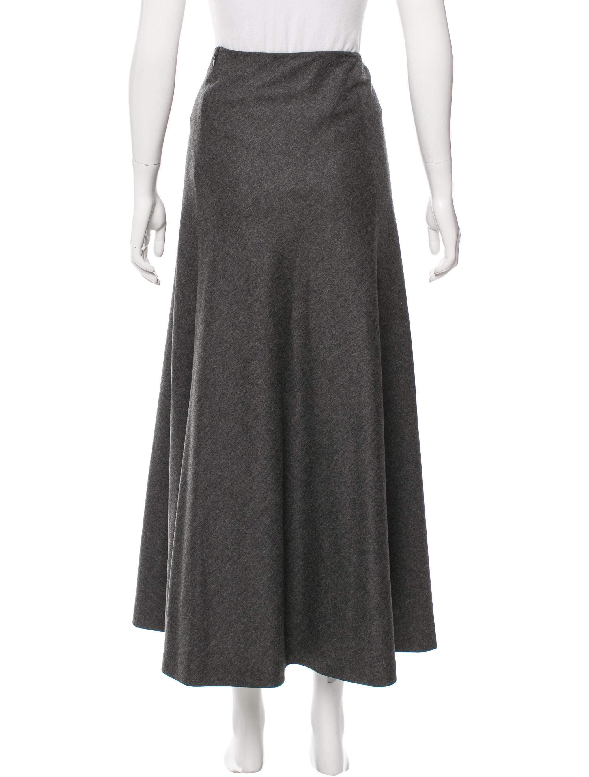 prada wool midi skirt clothing pra132491 the realreal