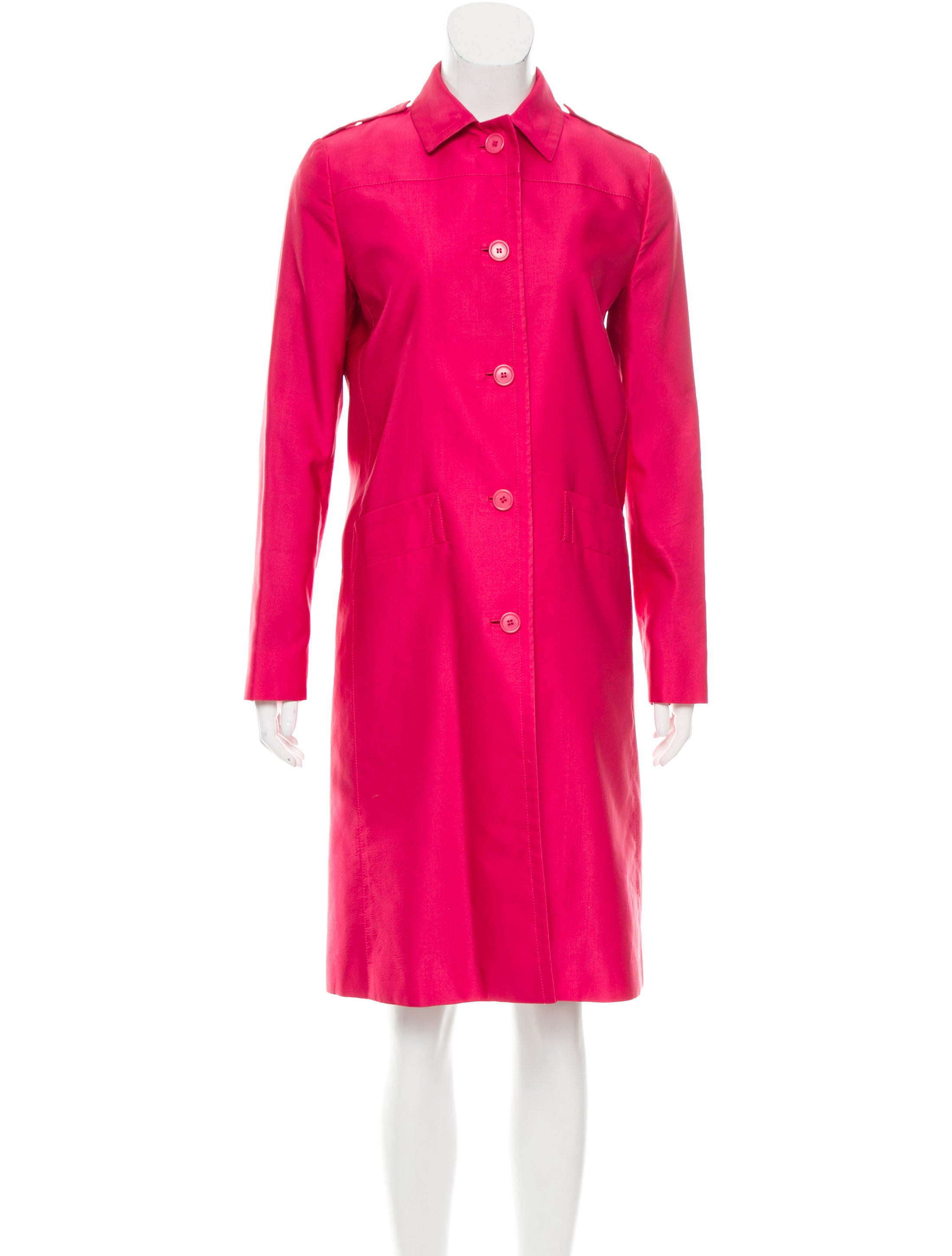 Prada collared button up jacket clothing pra132932 for Women s collared button up shirts