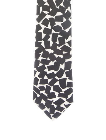 Prada Silk Abstract Print Tie
