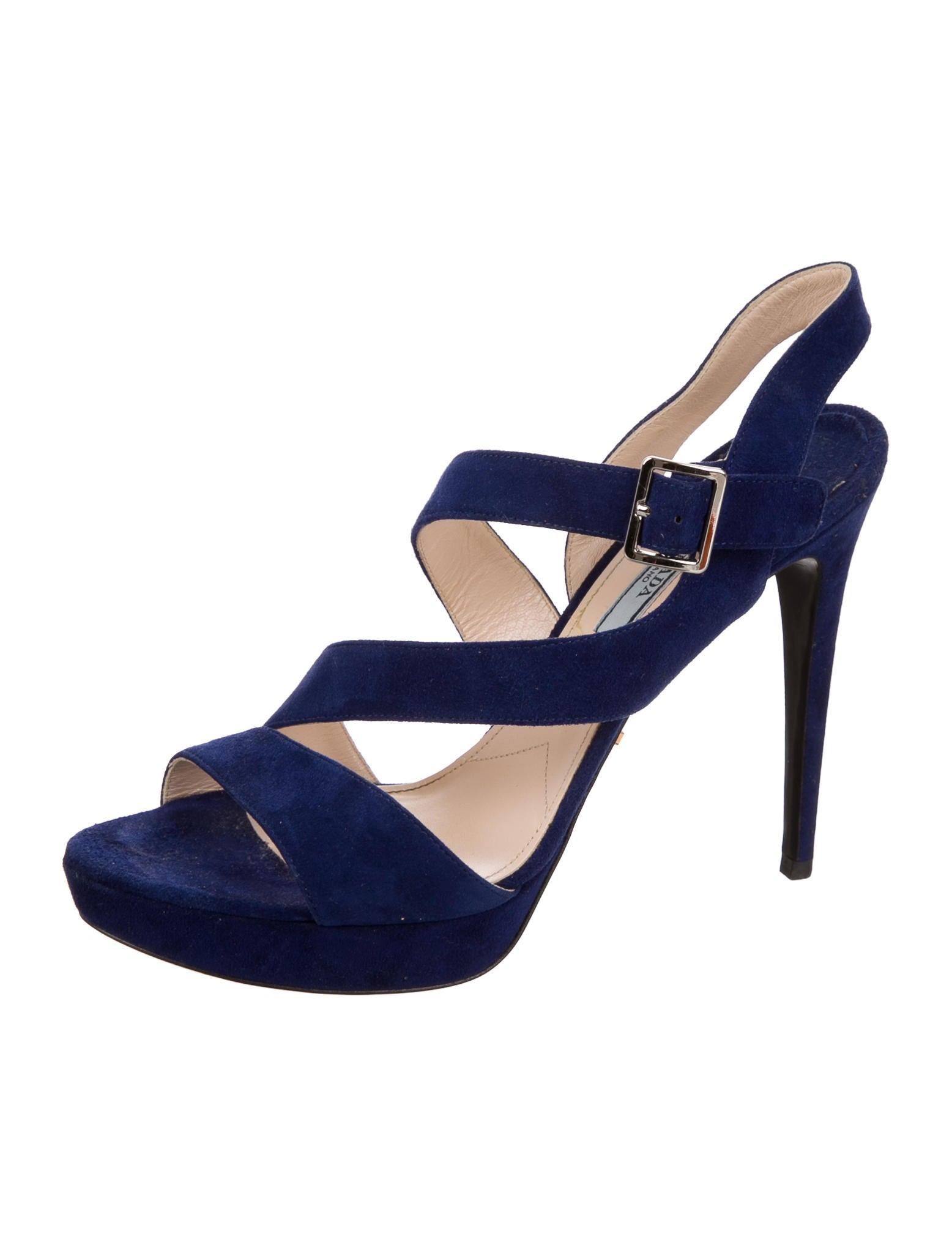 prada suede platform sandals shoes pra133040 the