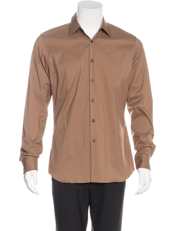 Prada woven dress shirt w tags clothing pra133100 Woven t shirt tags